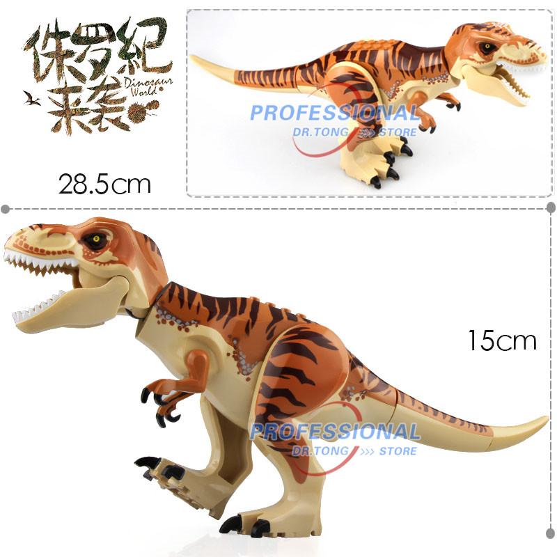 10 pcs/lot Jurassic World Park 2 dinosaure vert tyrannosaure film blocs de construction chiffres jouets modèle enfants cadeaux L032/L030