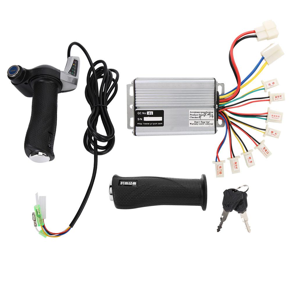 36V 48V 1000W Brushed Electric Bicycle Controller with Battery Display Throttle Twist Grip Set E Bike