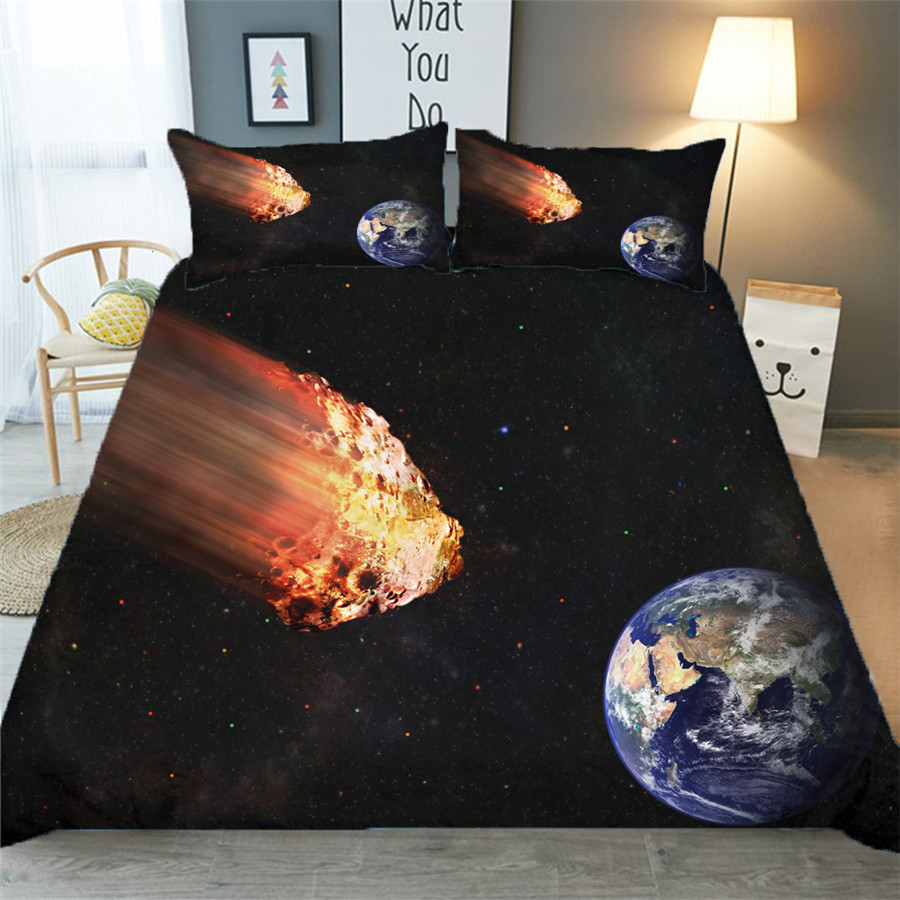 Bedding Set 3D Printed Duvet Cover Bed Set Starry Galaxy Home Textiles For Adults Bedclothes With Pillowcase XK10