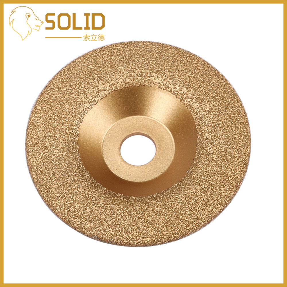 Diamond Brazed Grinding Disc Brazing Diamonds Grinding Wheel Convex Abrasive Tool for Shaping Polishing Stone 1Pc 100 <font><b>150</b></font> 180mm image