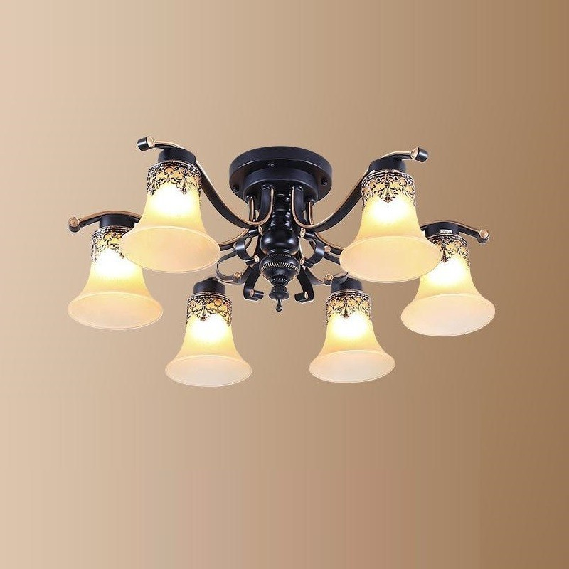 Chandelier Pendant Vintage Light Lustre E Pendente Para Sala De Jantar Deco Maison Suspendu Suspension Luminaire Hanging Lamp in Pendant Lights from Lights Lighting