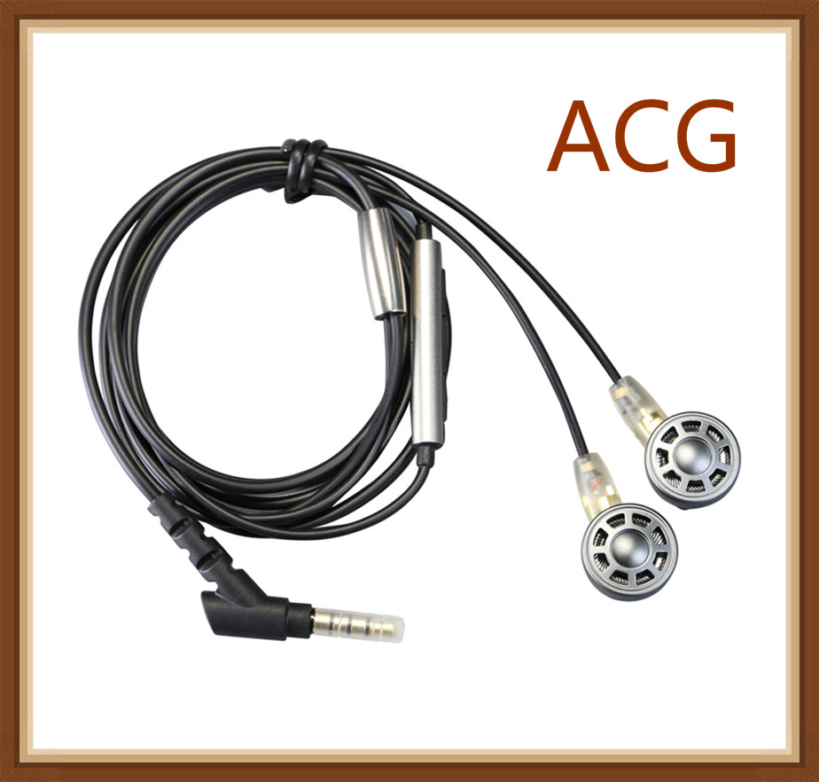 OURART ACG Titanium Crystal Diaphragm Dynamic Driver MMCX HiFi Music Metal Earbud Monitor Studio Earphones