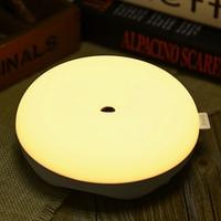 DC 5V Q5 Intelligent Motion Sensor LED Night Light Round Dimming Bedside Lamp On Sale