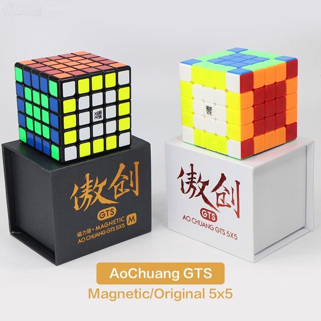 Moyu Cube 5x5x5 Aochuang GTS GTSM Cube magique vitesse 5x5 aimants Cubo Magico Neo Puzzle 5x5 jouets pour enfants garçon bureau jouet