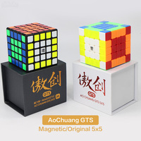 Moyu Cube 5x5x5 Aochuang GTS GTSM Magic Cube Speed 5x5 Magnets Cubo Magico Neo Puzzle 5x5 Toys For Children Boy Office Toy