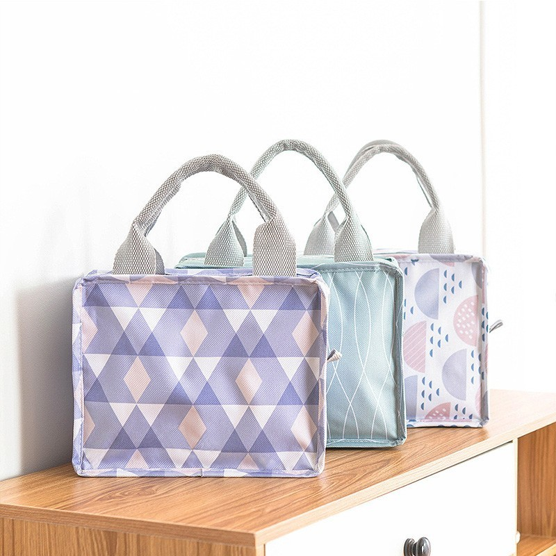 Yicana Fashion Portable Insulated Canvas lunch Bag keep food fresh Picnic Waterproof lunch bags for women kids Men lunch box bag in Lunch Bags from Luggage Bags