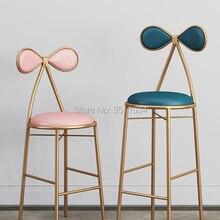 Барный стул-бабочка, туалетный столик, табурет 45 см/65 см/75 см, стул для отдыха, золотой табурет, современный обеденный стул