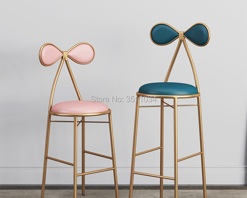 Butterfly bar chair Dressing table stool 45cm/65cm/75cm leisure chair, bar chair, iron chair, golden stool, modern dining chair, цены онлайн