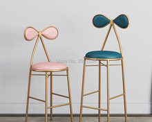 Butterfly bar chair Dressing table stool 45cm/65cm/75cm leisure chair, golden stool, modern dining chair,(China)