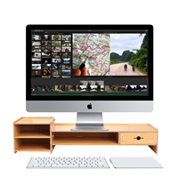 Neoteck Wooden Monitor Laptop Stand Holder Computer Screen Riser Wood Shelf Plinth Strong Laptop Stand Desk Holder For Notebook