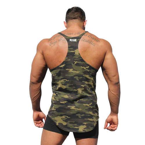 de70435ea399e ... Men s Stringer Bodybuilding Fitness Muscle Workout Camo Tank Top  Singlet Shirt ...