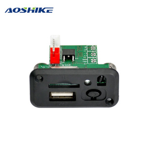 AOSHIKE Mini 12V MP3 Audio Decoder Board Lossless Decoding MP3 Player Stereo Two-channel Audio Output Support TF Card U Disk