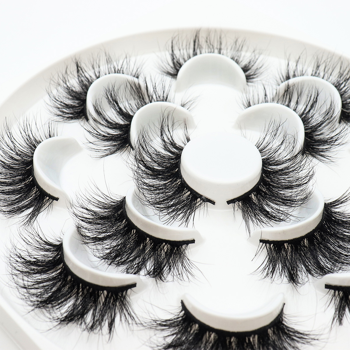 Image 4 - SEXYSHEEP 7pairs 25mm 5D Thick Mink Eyelashes Fake Lashes Long Makeup Mink Lashes Eyelash Extension False Eyelashes Mixed model-in False Eyelashes from Beauty & Health