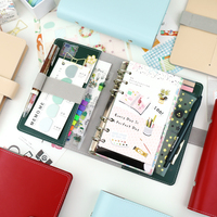 MyPretties Vigoroso 6 Buraco Organizador Fichário a5 a6 Vintage DIY Notebook Agenda Planejador Diário Revistas escritório Papelaria