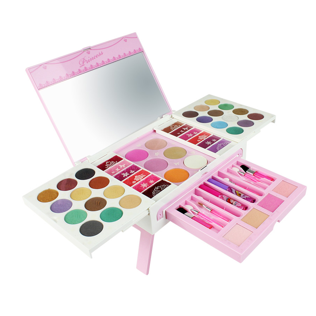 ¡Nuevo! Juego de 52 unids/set de juguetes de simulación de belleza para niñas, juego de cosméticos de maquillaje con maleta Hismith máquina de sexo adaptador sexo juguetes para adultos 4,5