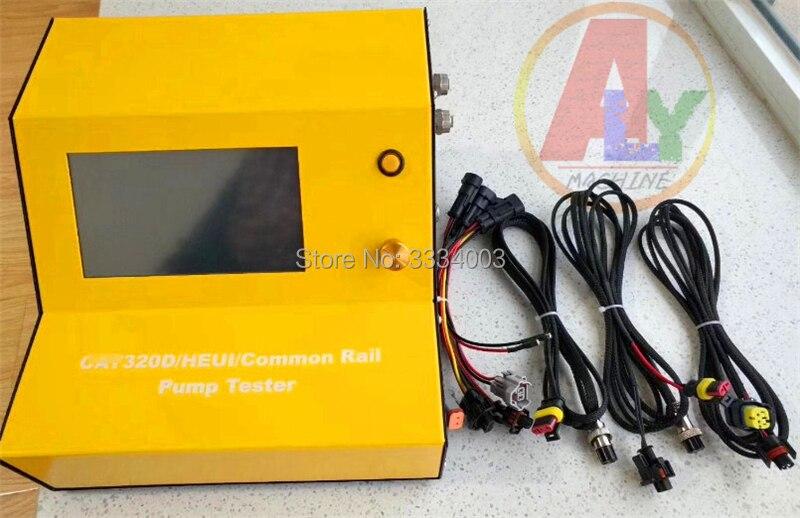 Testeur de pompe à rampe commune diesel EUI/HEUI pour pompe CATT 320D HEUI avec débitmètre de pompe