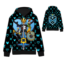 Anime  Kingdom Tops Cotton Cosplay Hoodies Standard Hooded kingdom hearts Winter Unisex funny Sweatshirts