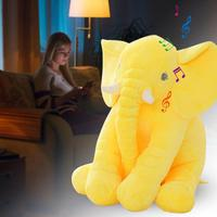 Innovative Plush Toy Induction Light Music Elephant Plush Doll Holiday Birthday Supplies Toy For Kids Children Adult