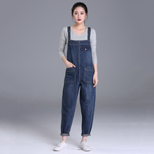 Plus Size 6XL Women Denim Jumpsuit 2019 Ladies Boyfriend Loose Jeans Rompers Female Casual Washed Overalls
