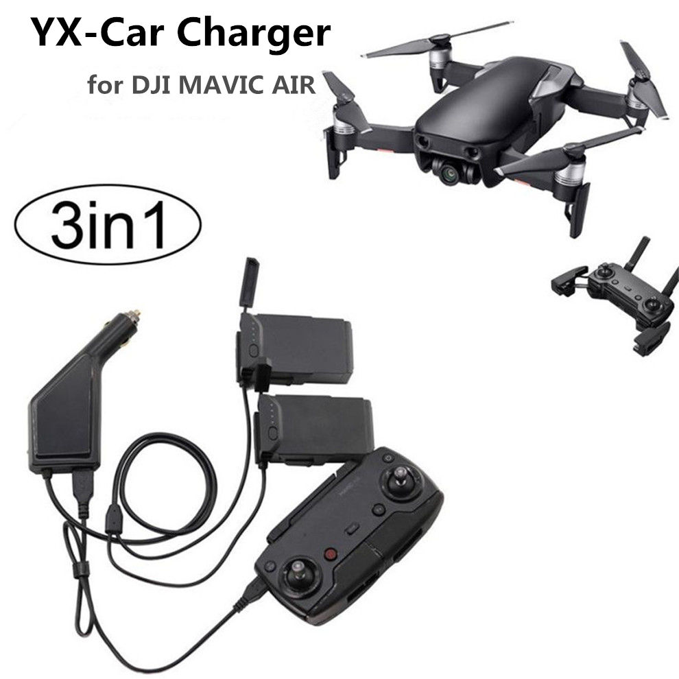 3in1 Car Charger Adapter For DJI Mavic Air Remote Control  amp  Battery Charging Hub