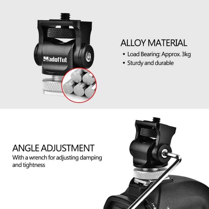 Горячий башмак регулируемое крепление монитор вспышка Адаптерный микрофон кронштейн держатель для видеокамеры фотографии для Canon Nikon sony