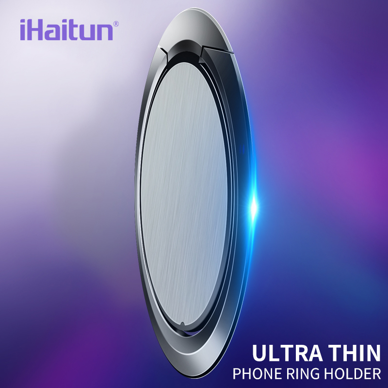 IHaitun Finger Ring Holder Ultra Thin For IPhone XS MAX XR Mount Holder Stand Mobile Phone Finger Phone Stand Tablet For Xiaomi