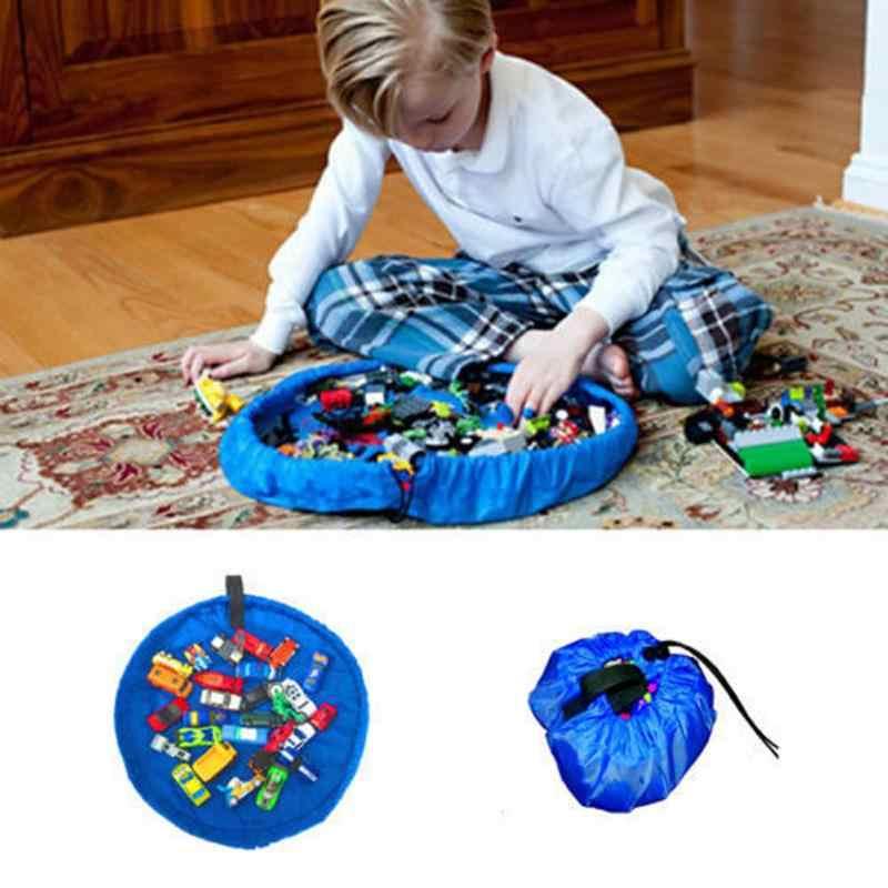 45/150cm rápido bolsa caso crianças crianças bebê jogar esteira brinquedos do bebê saco de armazenamento rápido casa piquenique carro brinquedos organizador