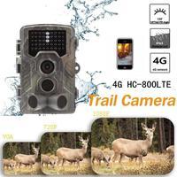 HC 800LTE 4G для охоты Камера 1080 P 16MP IP65 Водонепроницаемый Vider Регистраторы долгого ожидания Камера корм для животных фон для фотосъемки