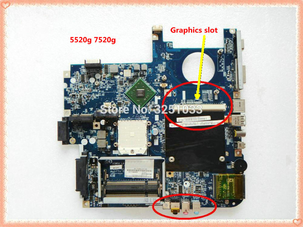 ICW50 LA-3581P for Acer aspire 7520G 5520 5520G laptop motherboard Socket s1 DDR2 MB.AK302.003 ICW50 MBAK302003 MotherboardICW50 LA-3581P for Acer aspire 7520G 5520 5520G laptop motherboard Socket s1 DDR2 MB.AK302.003 ICW50 MBAK302003 Motherboard