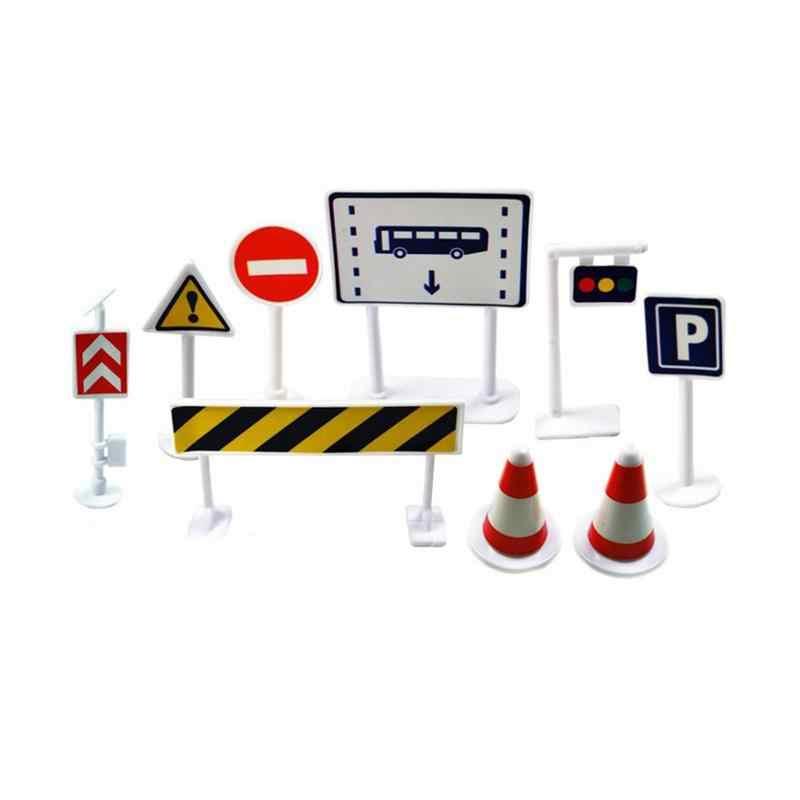 9 шт. детская модель парковки пейзаж светофора Signpost Roadblock дорожные знаки раннее развитие ребенка развивающие игрушки