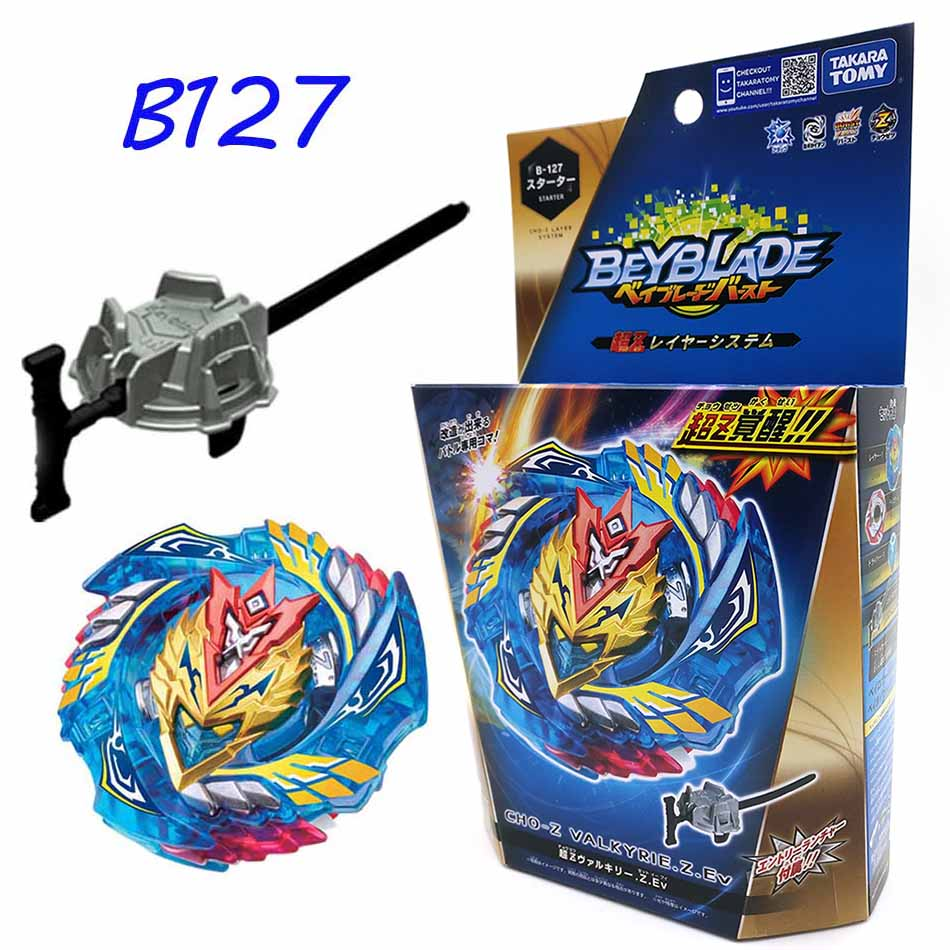 Original TOMY Beyblade Burst fafnir B127 B122 CHO-Z VALKYRIE.Z.Ev with launcher Bayblade be blade top spinner Toy for Children