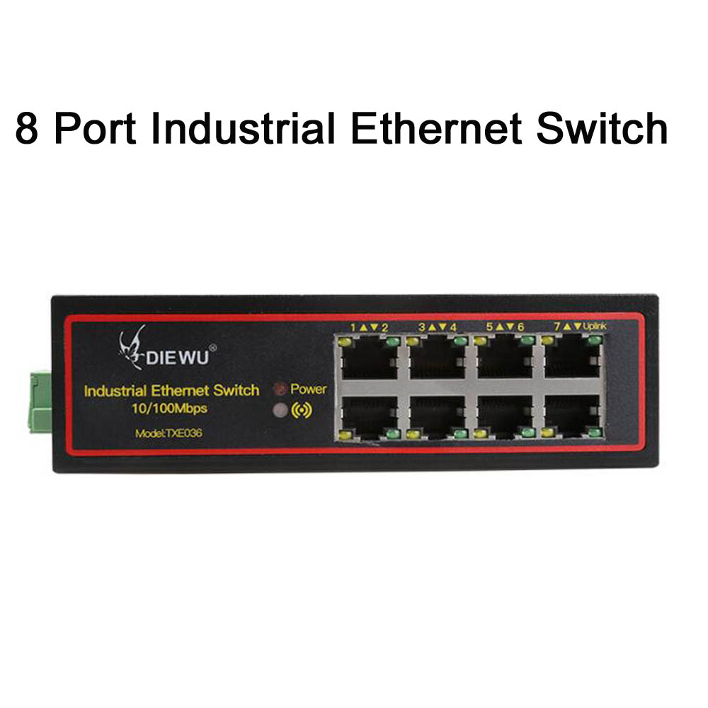 Sweet-Tempered 8port Industrial Ethernet Network Switch 10/100m Signal Strengthen Din Rail Type Computer & Office