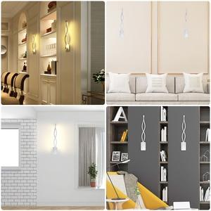 Image 2 - 12W LED Wall Lamp Lampada Bedroom Beside Wall Light Home Indoor Decoration Lighting Corridor Aluminum Wall Sconce AC90 260V