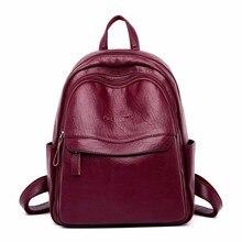 2019 женские кожаные рюкзаки высокого качества Sac A Dos женский рюкзак Роскошный дизайнерский рюкзак брендовый Повседневный Рюкзак