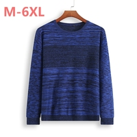 8XL 7XL 6XL O Neck Sweater Men Clothing Mens Sweaters Wool Cashmere pullover Men Brand Pull Homme Casual Dress Long Sleeve Shir