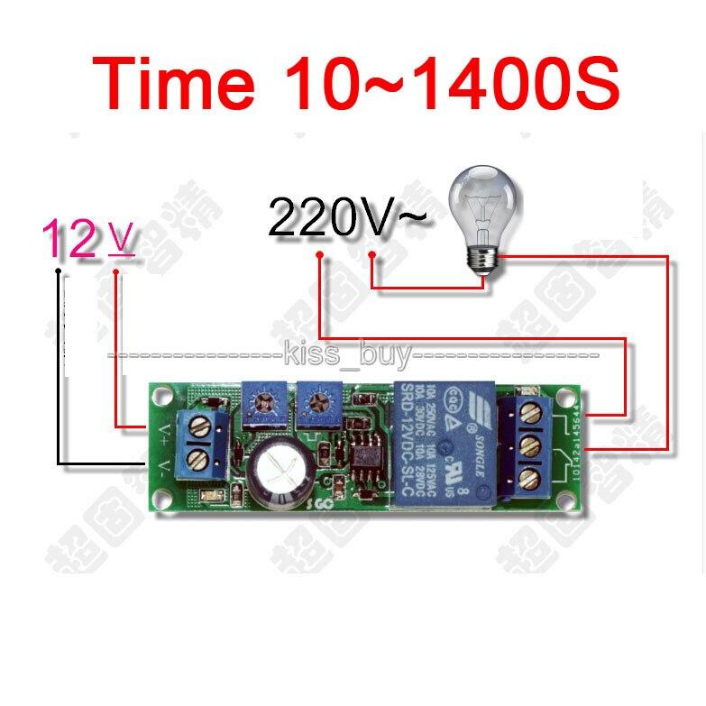 Mini 12V Unendliche Zyklus Verzögerung Zeit Timer Relais Schleife L0Z1 H5Y2
