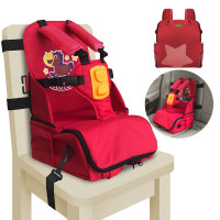3 in1 Storage functions baby Seat with shoulder protector Feeding Booster Seat Thermos Mommy Bag portable child seat high chairs