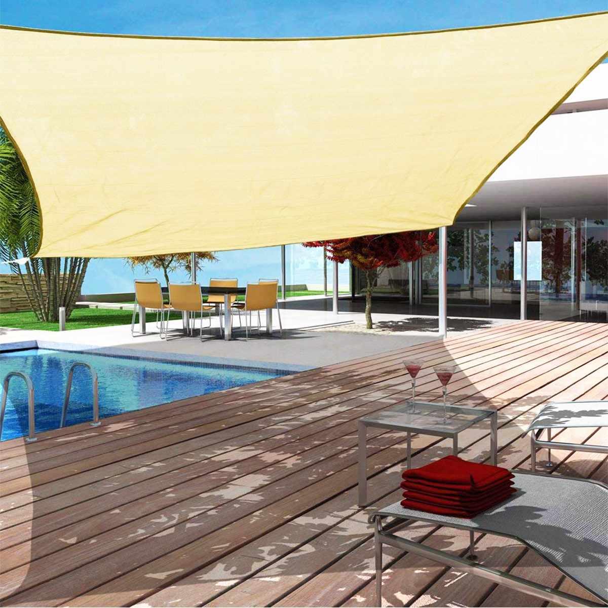 Sand 3x3x4.3 3x4x5 4x4x5.7 5x5x7.1  Sand 300D 160GSM Polyester Oxford Fabric Triangle Shade Sail SunSand 3x3x4.3 3x4x5 4x4x5.7 5x5x7.1  Sand 300D 160GSM Polyester Oxford Fabric Triangle Shade Sail Sun