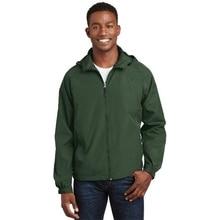 f07f4e9c2 Sport-Tek JST73 Mens Hooded Raglan Jacket Forest Green - 6XL