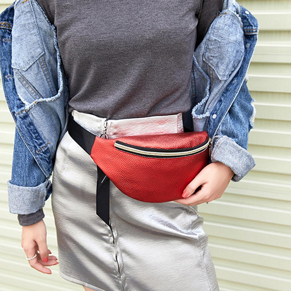 PinShang Women Sports Outdoor Running Waist Bag Fashion Delicate Texture Mobile Phone Bag Cross-bag Shoulder Bag