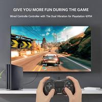 Wired Controlle Controller with The Dual Vibration for Playstation 4/PS4 Game Handle TV Handle Computer Handle