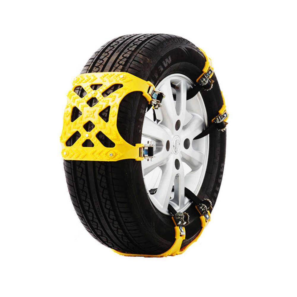 1 teile/satz Auto Reifen Winter Fahrbahn Sicherheit Reifen Schnee Einstellbar Anti-skid Sicherheit Doppel Snap Skid Rad TPU Ketten