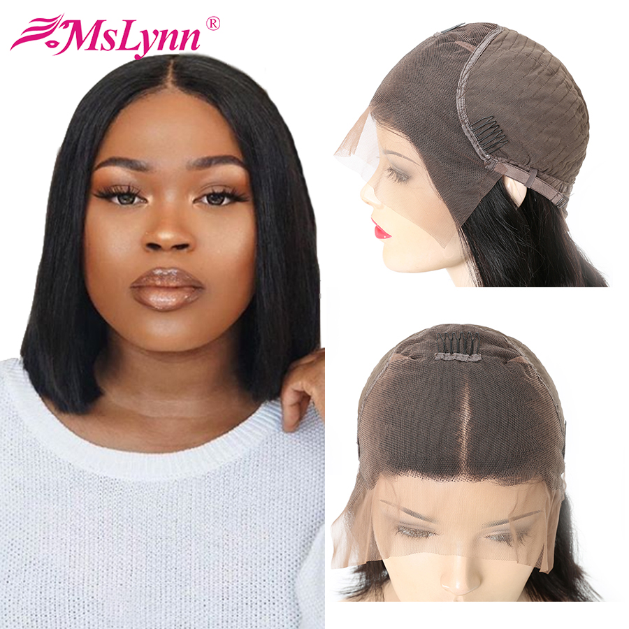 Lace Front Human Hair Wigs For Black Women Short Bob Lace Front Wigs Pre Plucked 13x6