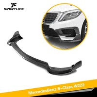 Front Bumper Lip Spoiler For Mercedes-Benz W222 S63 AMG 2014 Base Sedan 4-Door Carbon Fiber Front Bumnper Lip Splitters