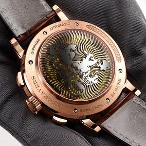 Image 5 - 스위스 LOBINNI 남자 시계 럭셔리 브랜드 자동 기계 남자 Wirstwatches 사파이어 가죽 Tracymeter relogio L16001 2