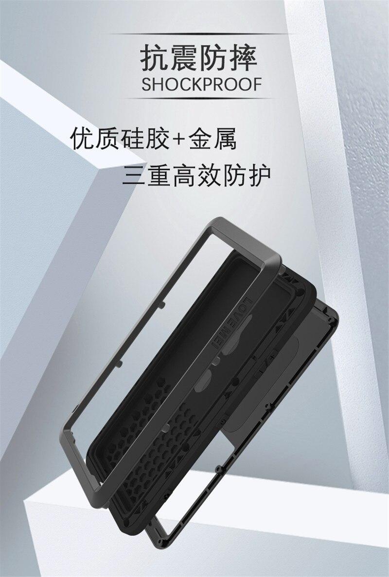 Pour Sony XZ3 armure métal boîtier antichoc pour SONY Xperia XZ3 aluminium vie couverture étanche pour Sony XZ3 Xperia XZ 3 coques de téléphone - 3
