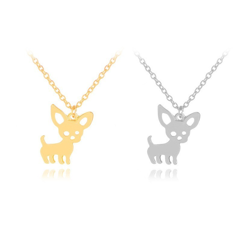 New Design Chihuahua Cute Metal Dog Gold Silver Tag Disc Disk Pet ID Enamel Accessories Collar Necklace Pendant in Dog Accessories from Home Garden