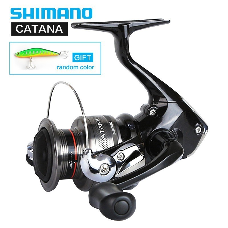 Bobine de filage Shimano Catana Fd d'origine 1000 2500 C3000 4000 2 + 1bb 5.0: 1 6.2: 1 rapport de vitesse 8.5 kg bobine de pêche à l'arc de traînée Max