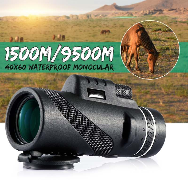 40X60 Day & Night Vision Dual-Focus HD Optics Zoom Monocular Telescope Waterproof Super Clear for Outdoor Hunting