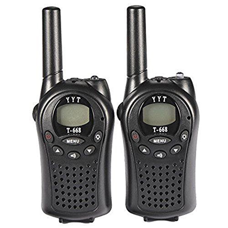 Image 2 - Two Way Radio Walkie Talkie 2 Pieces T 668 Handheld Auto Multi Channel 5KM-in Walkie Talkie from Cellphones & Telecommunications